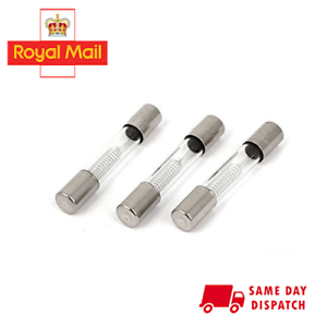 10Pcs 6 x 40mm Axial Glass 750mA 0.75A 5KV Fuse Tubes for Microwave OvenTO