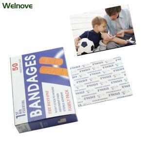 100Pcs-First-Aid-Dressings-Sterile-Hemostasis-Stickers-Plaster-Bandage-Z13402