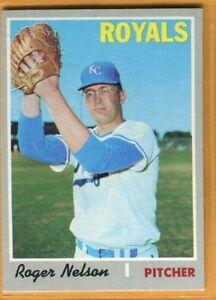 Details About Baseball Card 1970 Topps Kansas City Royals Roger Nelson 633 Exmt Hi Number