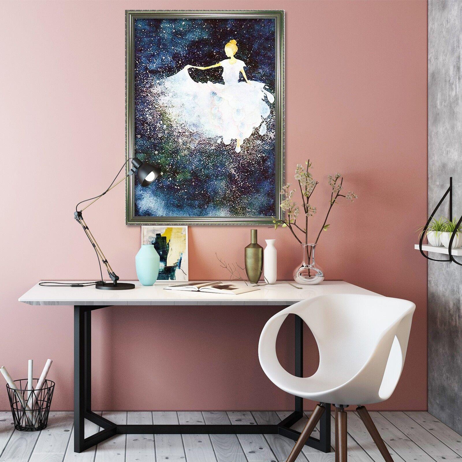 3D bailarina de pintura 2 Enmarcado Cartel Decoración del Hogar Pintura de Impresión Arte Wallpaper