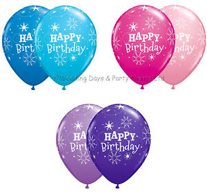 Image Is Loading 25 Colour Choice Happy Birthday Stars Helium Air