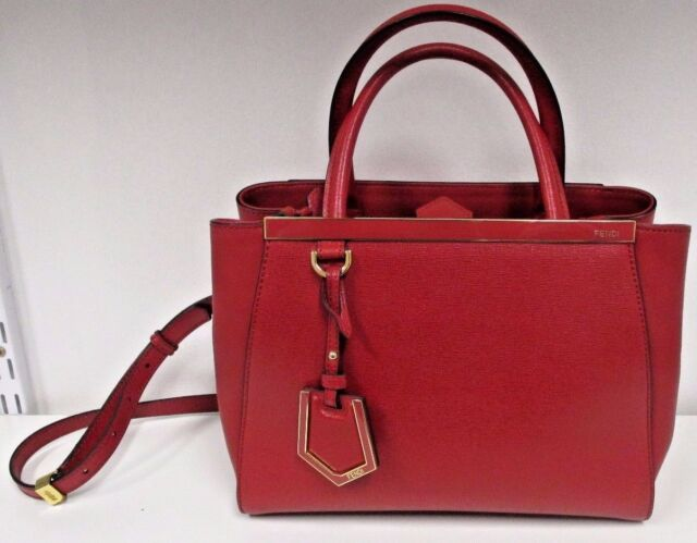 Fendi Red Petite 2jours Elite Tote Bag - With Tags - for sale online ... 0c2268eca06ea