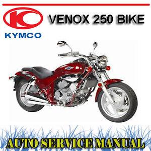 kymco venox 250 bike factory workshop service repair manual