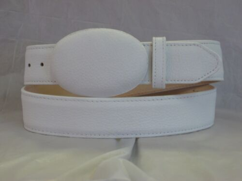 HANDMADE LOS ALTOS GENUINE AUTHENTIC WHITE DEER WESTERN COWBOY BELT