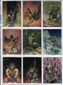 1993 Conan 1 Chromium 100 card set by Comic Images with 10 Variation cards