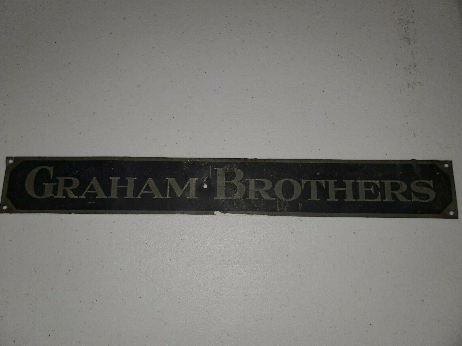 Image 1 - Graham-Brothers-Truck-Frame-Name-Plate-1920s-ORIGINAL
