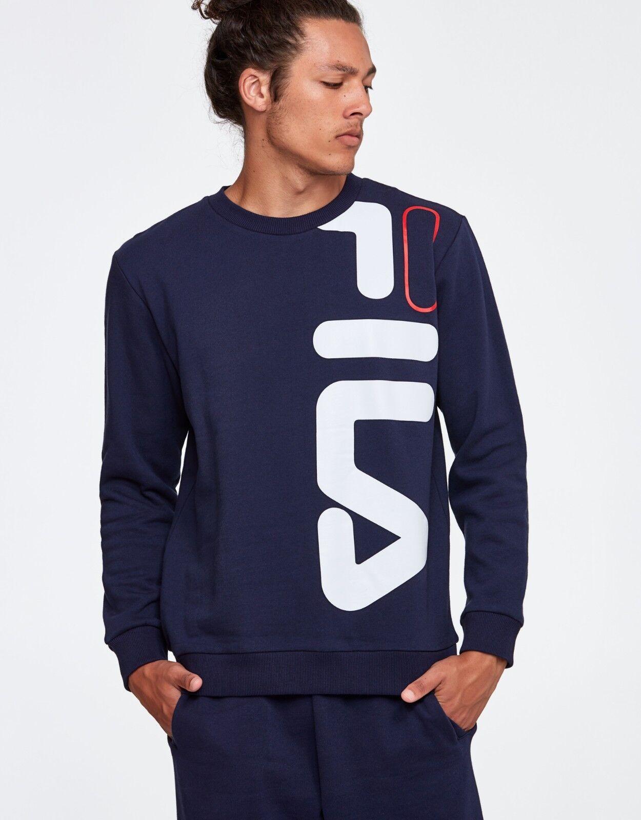 Fila Heritage Empire Crew Sweatshirt Jumper Blau Größe M Casual Fleece Top