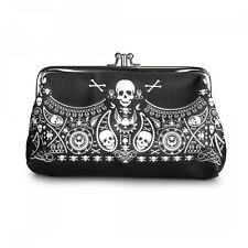 Loungefly Skull Bandana Punk Biker Skeleton Clutch Wallet Coin Purse LFCB0111