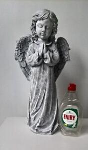 ANGEL-STONE-STATUE-LARGE-49CM-TALL-Handmade-Garden-Feature-Ornament-Home-Decor
