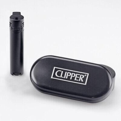 mit Gravur Passt im Schachtel Peppiges schwarzes Clipper Gasfeuerzeug metall
