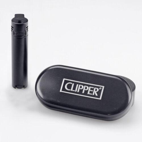mit Gravur Passt im Schachtel Schwarzes Clipper Laser-Jet Gasfeuerzeug metall