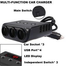 SHUNWEI 12 V charger USB 3 Socket Multi Auto Splitter Charger Power Adapter B5D6