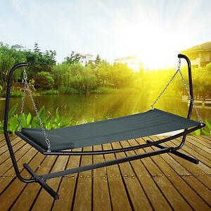 h ngemattengestell h ngematte mit gestell gartenliege sonnenliege gartenm bel ebay. Black Bedroom Furniture Sets. Home Design Ideas