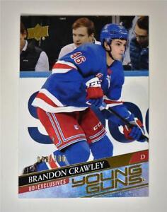 2020-21 UD Series 2 Base Exclusive Young Guns #464 Brandon Crawley RC /100