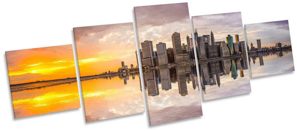 Manhattan Sunset New York Foto Skyline MULTI LONA pa rojo  arte Foto York Marco De Caja 5b83b4