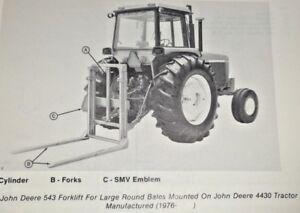 John Deere 543 Forklift Fork Lift Parts Catalog Manual Book Jd Ebay