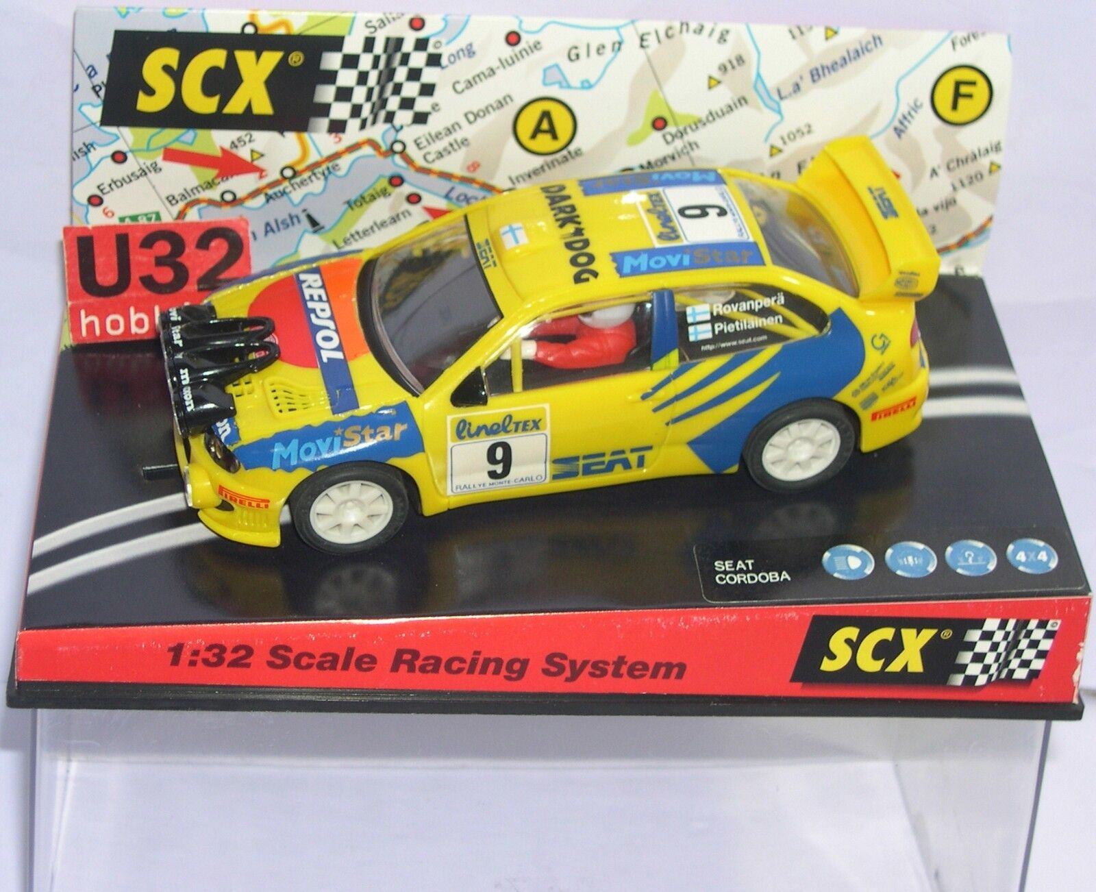 SCALEXTRIC 60230 SEAT CORDOBA WRC MONTECARLO 1999 ROVANPERÄ-PIETILAINEN