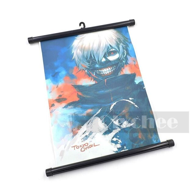1X HOT Anime Tokyo Ghoul Ken Kaneki Wall Poster Scroll Home Decor Cosplay Gift