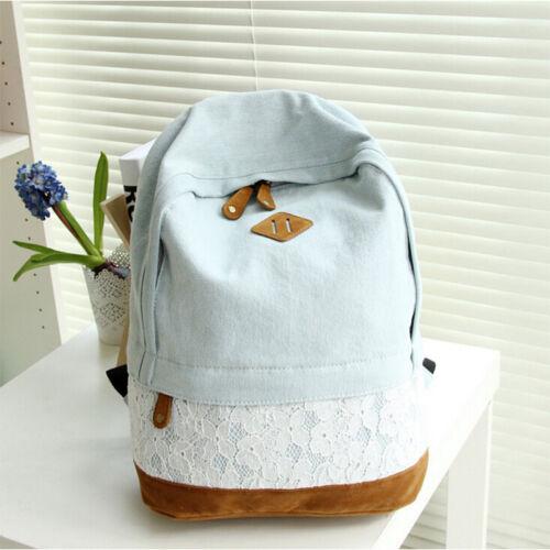 Women Girls Casual Backpack Shoulder Bags Ladies College School Travel Outdoor