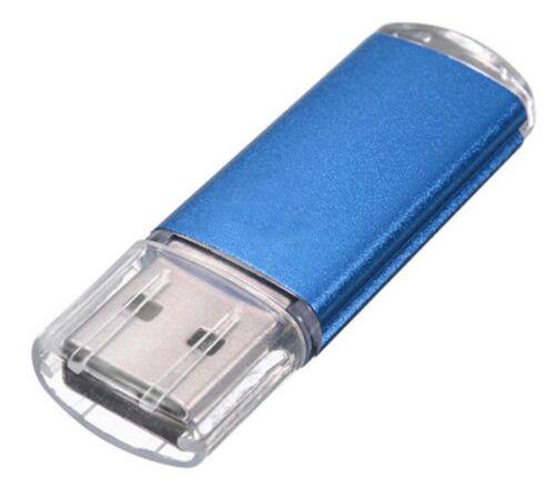 Sleek BLUE 256GB BRAND NEW USB 2.0 Thumb Pen Flash Drive Memory Stick Storage