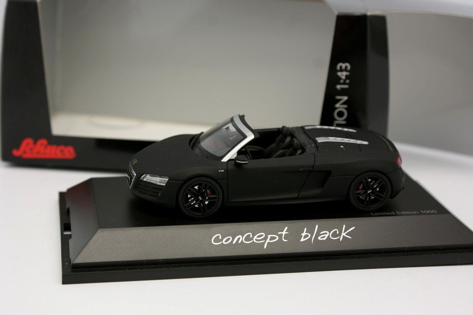 Schuco 1 43 - Audi R8 Spider Negra Mate Concept Negro