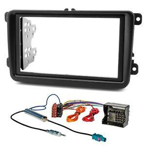 Radio-Blende-Adapter-Kabel-Set-fuer-Polo-6R-T5-Golf-5-6-Plus-Passat-2DIN-HQ-Optik