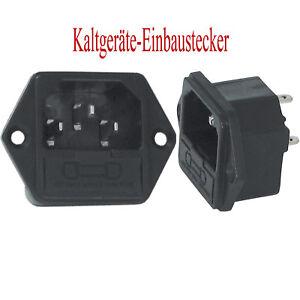 261 Kaltgeräte-Einbaustecker-einbaubuchse mit Sicherungshalter C14 Lötanschluss