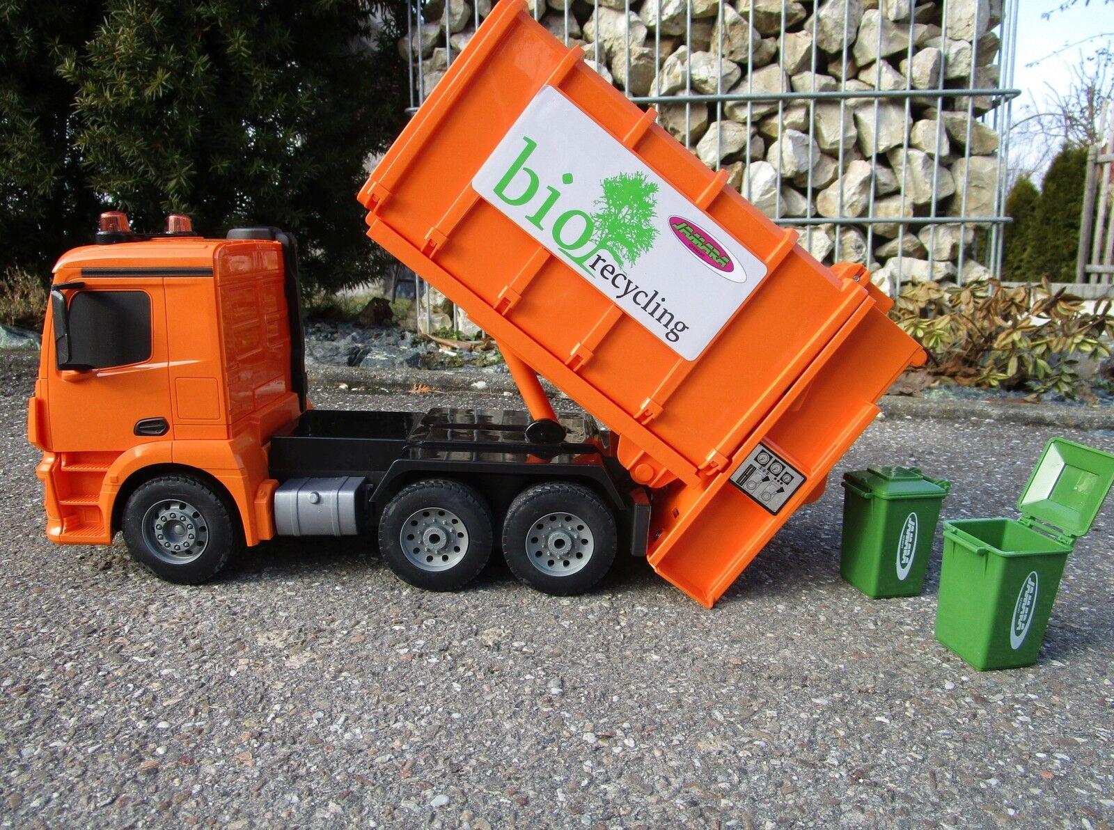 RC camion dei rifiuti MERCEDES 1 20 2,4ghz spazzatura da postazione remota Auto Qualità Top 405079
