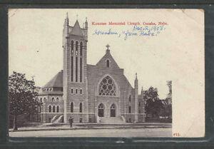 1908-KOUNTZE-MEMORIAL-CHURCH-OMAHA-NEBRASKA-POSTCARD