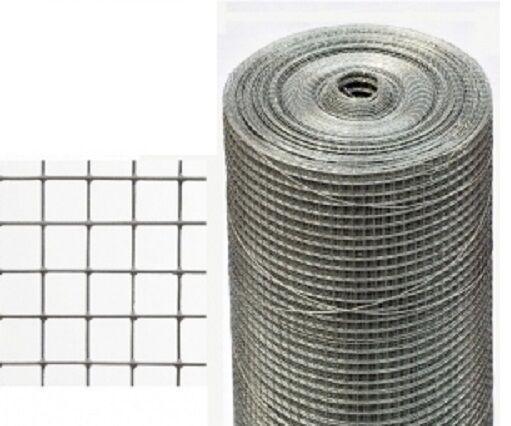 Volierendraht Maschendraht Zaun Stahl verzinkt 25m mesh13x13mm