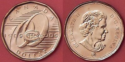 2009 MONTREAL CANADIENS LOONIE BRILLIANT UNCIRCULATED FROM MINT ROLL