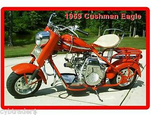 Cushman Eagle Motor Scooter 1959 Refrigerator Tool Box Magnet Man