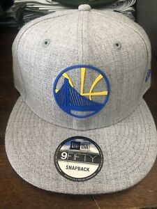 New-Era-Golden-State-Warriors-Snapback-Hat-Cap-Gray-Nba-Basketball