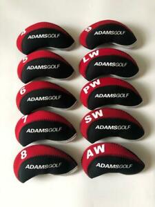 10PCS-Golf-Club-Head-Covers-for-Adams-Iron-Headcovers-4-LW-Red-amp-Black-Protector