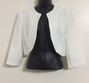 NEW-Ex-DP-White-Cropped-Structured-Tailored-Smart-Blazer-Jacket-Size-10-24