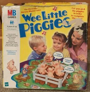 Vintage-2002-Wee-petits-cochons-Electronic-Board-game-by-MB-Jeux-fonctionnel