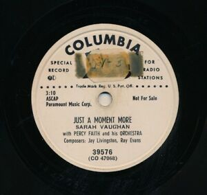 SARAH-VAUGHAN-1951-Columbia-39576-Just-a-Moment-More-I-Ran-All-the-Way-Home