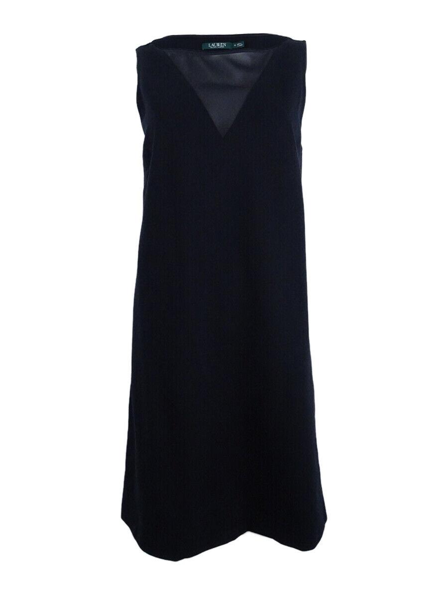 Lauren by Ralph Lauren damen Ponte Mesh Cocktail Dress (S, schwarz)