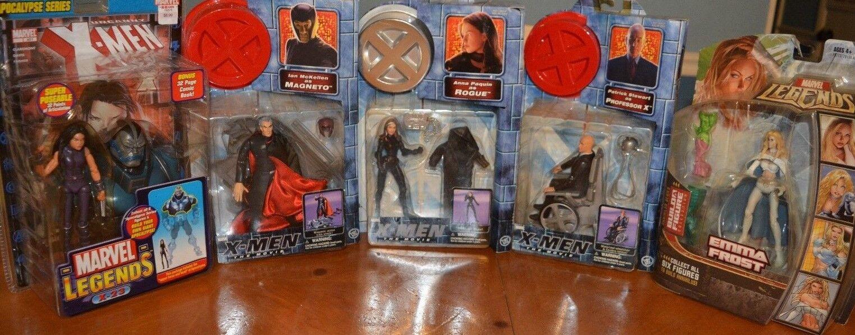 Figura Cool X-men Magneto, profesor x trato , Rogue, X-23 & Emma Frost