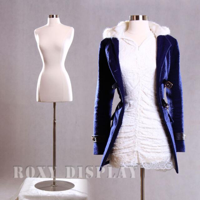 Economic Female Mannequin Manikin Dress Body Form White JF-FWP-WH+BS-04