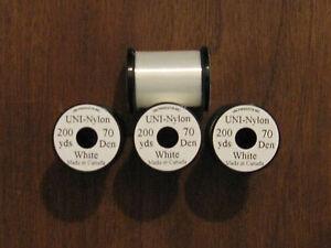 Fly Tying Uni Nylon 200yds. 70 Denier White