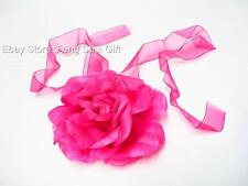 Party Fashion Women Ladies Elegant Rose Flower Neck Tie Head Band Decoration #A
