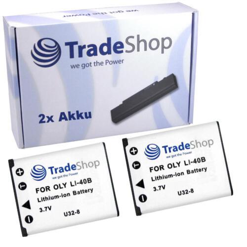 Batería 2x para olympus x-845 x-855 x-750 x-825 x-835 x-875