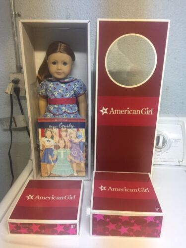 American Girl Emily LOT EMILY, HOLIDAY DRESS, & TAP COSTUME RETIRED NEW in BOX