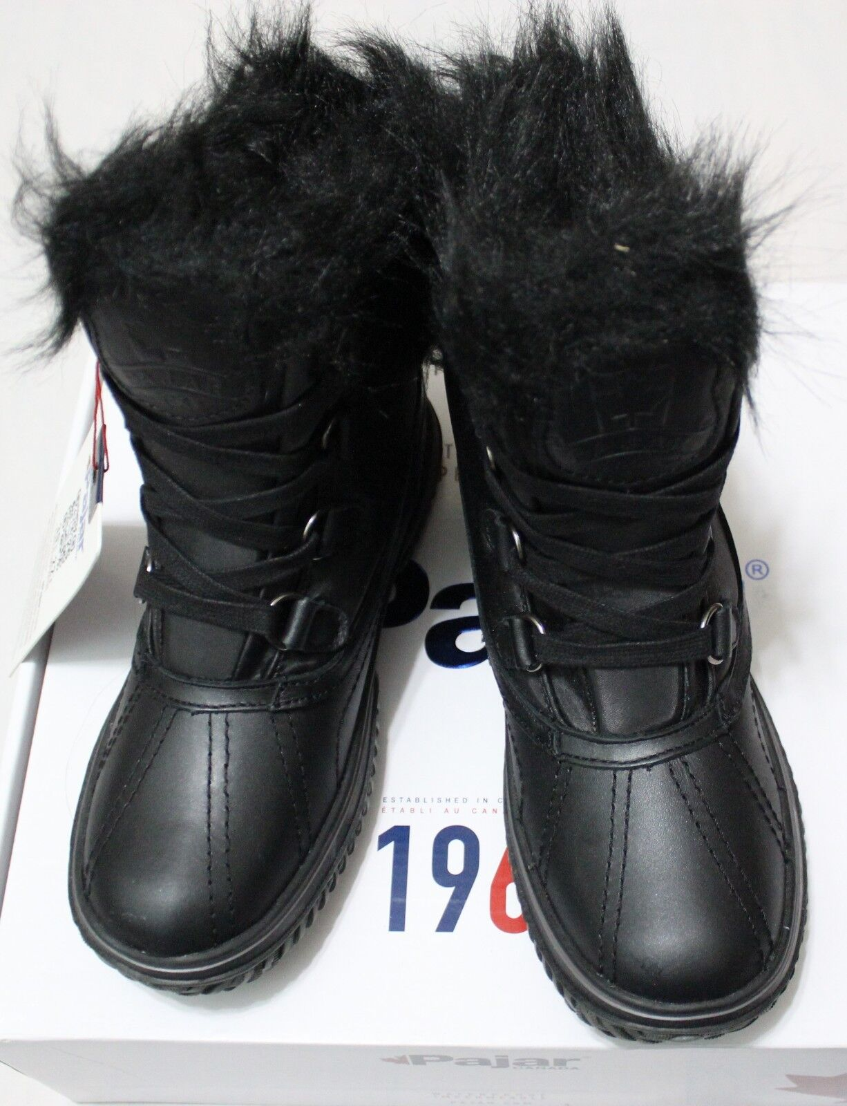 165 PAJAR ICELIA BLACK WATERPROOF FAUX FUR BOOT US 5-5.5/ M