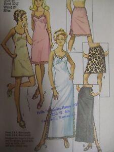 c690d4046d6ee Details about Vtg 70s Simplicity 9115 FULL SLIP & HALF SLIP LINGERIE Sewing  Pattern Women Sz10