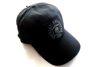 Harley-Davidson-Skull-Shield-Totenkopf-Baseball-Cap-Kappe-schwarz-99492-17VM