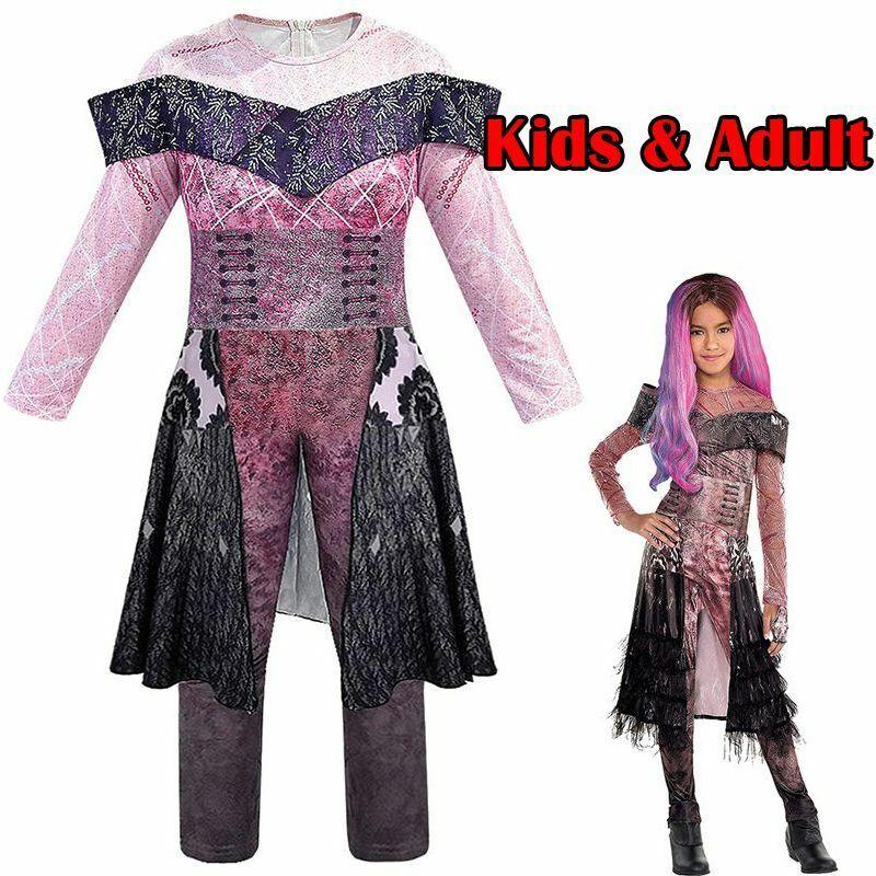 Adult/'s Descendants 3 Evil Audrey Cosplay Costume Set Tiara Decent Full Outfit