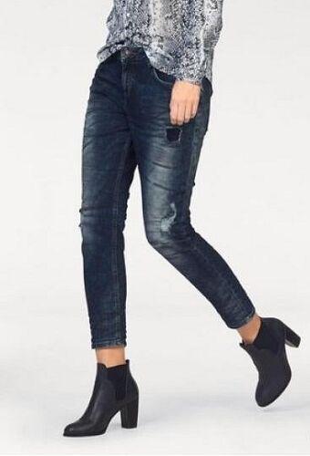 LTB Jeans Mika NEU Slim Damen Destroyed Hose Blau Stretch Denim W27-W31 L34