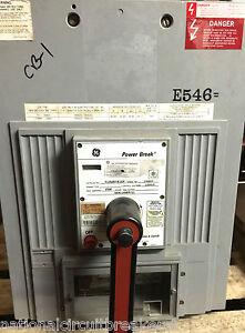 GE TC2525TTE1CR Circuit Breaker 2500 AMP 120VAC CONTROL LSIG MO DO